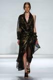 NEW YORK, NY - SEPTEMBER 05: Model Nicole Keimig walks the runway at the Zimmermann fashion show Royalty Free Stock Photo