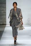 NEW YORK, NY - SEPTEMBER 05: Model Ping Hue Cheung walks the runway at the Zimmermann fashion show Royalty Free Stock Photo