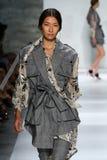 NEW YORK, NY - SEPTEMBER 05: Model Ping Hue Cheung walks the runway at the Zimmermann fashion show Royalty Free Stock Image