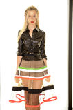 NEW YORK, NY - SEPTEMBER 03: A model poses at the Alina German Presentation Stock Photo