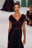 NEW YORK, NY - SEPTEMBER 08: Model Renata Zandonadi walks the runway at the Carolina Herrera fashion show Stock Photos