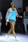 NEW YORK, NY - SEPTEMBER 03: A model walks the runway during the Athleta  Runway show Royalty Free Stock Image