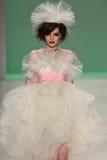 NEW YORK, NY - SEPTEMBER 10: A model walks the runway at Betsey Johnson Spring 2015 fashion collection Royalty Free Stock Photos