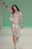 NEW YORK, NY - SEPTEMBER 10: A model walks the runway at Betsey Johnson Spring 2015 fashion show Stock Photo