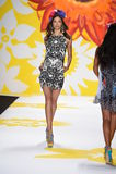 NEW YORK, NY - SEPTEMBER 04: A model walks the runway at Desigual Stock Photos