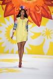 NEW YORK, NY - SEPTEMBER 04: A model walks the runway at Desigual Royalty Free Stock Photo