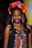NEW YORK, NY - SEPTEMBER 04: A model walks the runway at Desigual Royalty Free Stock Photo