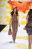 NEW YORK, NY - SEPTEMBER 04: A model walks the runway at Desigual Stock Image