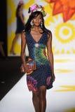NEW YORK, NY - SEPTEMBER 04: A model walks the runway at Desigual Royalty Free Stock Photos
