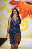 NEW YORK, NY - SEPTEMBER 04: A model walks the runway at Desigual Royalty Free Stock Images