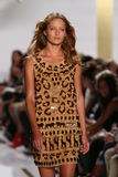 NEW YORK, NY - SEPTEMBER 08: A model walks the runway during the Diane Von Furstenberg fashion show Stock Photo