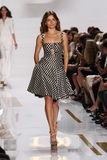 NEW YORK, NY - SEPTEMBER 08: A model walks the runway during the Diane Von Furstenberg fashion show Stock Image