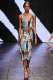 NEW YORK, NY - SEPTEMBER 08: Model walks the runway at Donna Karan Spring 2015 fashion show Stock Photo