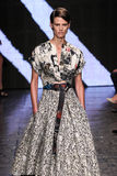 NEW YORK, NY - SEPTEMBER 08: Model walks the runway at Donna Karan Spring 2015 fashion show Stock Photos