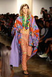 NEW YORK, NY - SEPTEMBER 10: A model walks the runway at the Jeremy Scott fashion show Stock Image