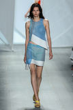NEW YORK, NY - SEPTEMBER 06: A model walks the runway at Lacoste Spring 2015 fashion show Stock Image