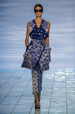 NEW YORK, NY - SEPTEMBER 06: A model walks the runway at the LIE SANGBONG Spring-Summer 2015 Collection Royalty Free Stock Image