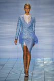 NEW YORK, NY - SEPTEMBER 06: A model walks the runway at the LIE SANGBONG Spring-Summer 2015 Collection Royalty Free Stock Photography