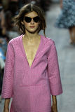NEW YORK, NY - SEPTEMBER 10: A model walks the runway at Michael Kors Spring 2015 fashion collection Stock Image
