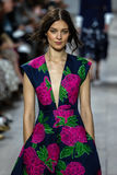 NEW YORK, NY - SEPTEMBER 10: A model walks the runway at Michael Kors Spring 2015 fashion collection Royalty Free Stock Images
