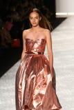 NEW YORK, NY - SEPTEMBER 05: A model walks the runway at Monique Lhuillier Stock Photos
