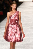 NEW YORK, NY - SEPTEMBER 05: A model walks the runway at Monique Lhuillier Stock Image