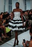 NEW YORK, NY - SEPTEMBER 09: A model walks the runway at the Oscar De La Renta fashion show Royalty Free Stock Photos