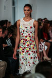 NEW YORK, NY - SEPTEMBER 09: A model walks the runway at the Oscar De La Renta fashion show Stock Photo
