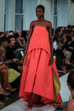 NEW YORK, NY - SEPTEMBER 09: A model walks the runway at the Oscar De La Renta fashion show Royalty Free Stock Images
