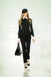 NEW YORK, NY - SEPTEMBER 12: A model walks the runway at the Ralph Lauren fashion show Stock Photo