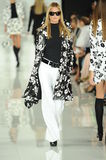 NEW YORK, NY - SEPTEMBER 12: A model walks the runway at the Ralph Lauren fashion show Royalty Free Stock Image
