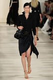 NEW YORK, NY - SEPTEMBER 11: A model walks the runway at Ralph Lauren Spring 2015 fashion collection Stock Images