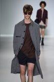 NEW YORK, NY - SEPTEMBER 04: A model walks the runway at Richard Chai Love Spring 2015 fashion show Stock Photos