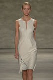NEW YORK, NY - SEPTEMBER 06: A model walks the runway at the Son Jung Wan Spring 2015 fashion show Stock Images