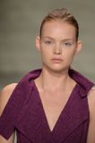 NEW YORK, NY - SEPTEMBER 06: A model walks the runway at the Son Jung Wan Spring 2015 fashion show Royalty Free Stock Image