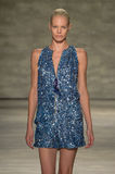 NEW YORK, NY - SEPTEMBER 06: A model walks the runway at the Son Jung Wan Spring 2015 fashion show Stock Image