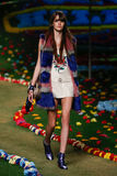 NEW YORK, NY - SEPTEMBER 08: A model walks the runway at Tommy Hilfiger Women's fashion show Stock Photography