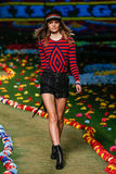 NEW YORK, NY - SEPTEMBER 08: A model walks the runway at Tommy Hilfiger Women's fashion show Royalty Free Stock Image