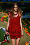NEW YORK, NY - SEPTEMBER 08: A model walks the runway at Tommy Hilfiger Women's fashion show Stock Image