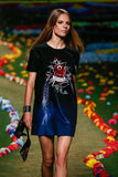 NEW YORK, NY - SEPTEMBER 08: A model walks the runway at Tommy Hilfiger Women's fashion show Stock Photo