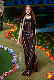NEW YORK, NY - SEPTEMBER 08: A model walks the runway at Tommy Hilfiger Women's fashion show Royalty Free Stock Images