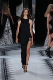 NEW YORK, NY - SEPTEMBER 07: A model walks the runway at the Versus Versace Spring 2015 Collection Stock Photos