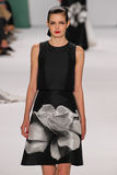 NEW YORK, NY - SEPTEMBER 08: Model Zlata Mangafic walks the runway at the Carolina Herrera fashion show Royalty Free Stock Photography