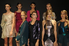 NEW YORK, NY - SEPTEMBER 04: Models attend the Pamela Gonzales presentation Stock Photos