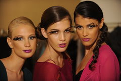 NEW YORK, NY - SEPTEMBER 04: Models attend the Pamela Gonzales presentation Stock Images