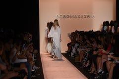 NEW YORK, NY - SEPTEMBER 04: Models walk the runway finale at BCBGMAXAZRIA Stock Photography
