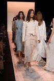 NEW YORK, NY - SEPTEMBER 04: Models walk the runway finale at BCBGMAXAZRIA Stock Images