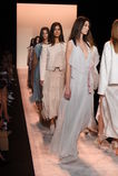 NEW YORK, NY - SEPTEMBER 04: Models walk the runway finale at BCBGMAXAZRIA Royalty Free Stock Images