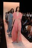 NEW YORK, NY - SEPTEMBER 04: Models walk the runway finale at BCBGMAXAZRIA Stock Photos