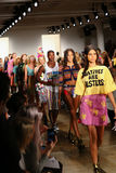 NEW YORK, NY - SEPTEMBER 10: Models walk the runway finale at the Jeremy Scott fashion show Royalty Free Stock Photography